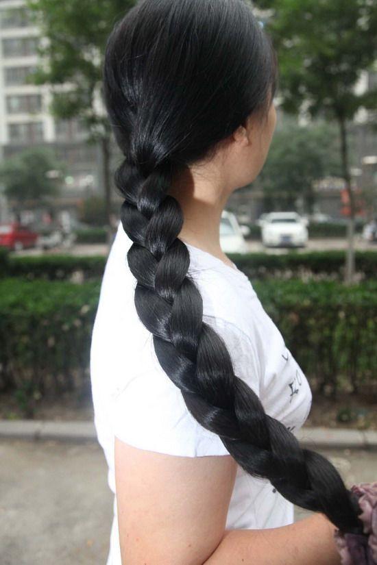 very long thick braid