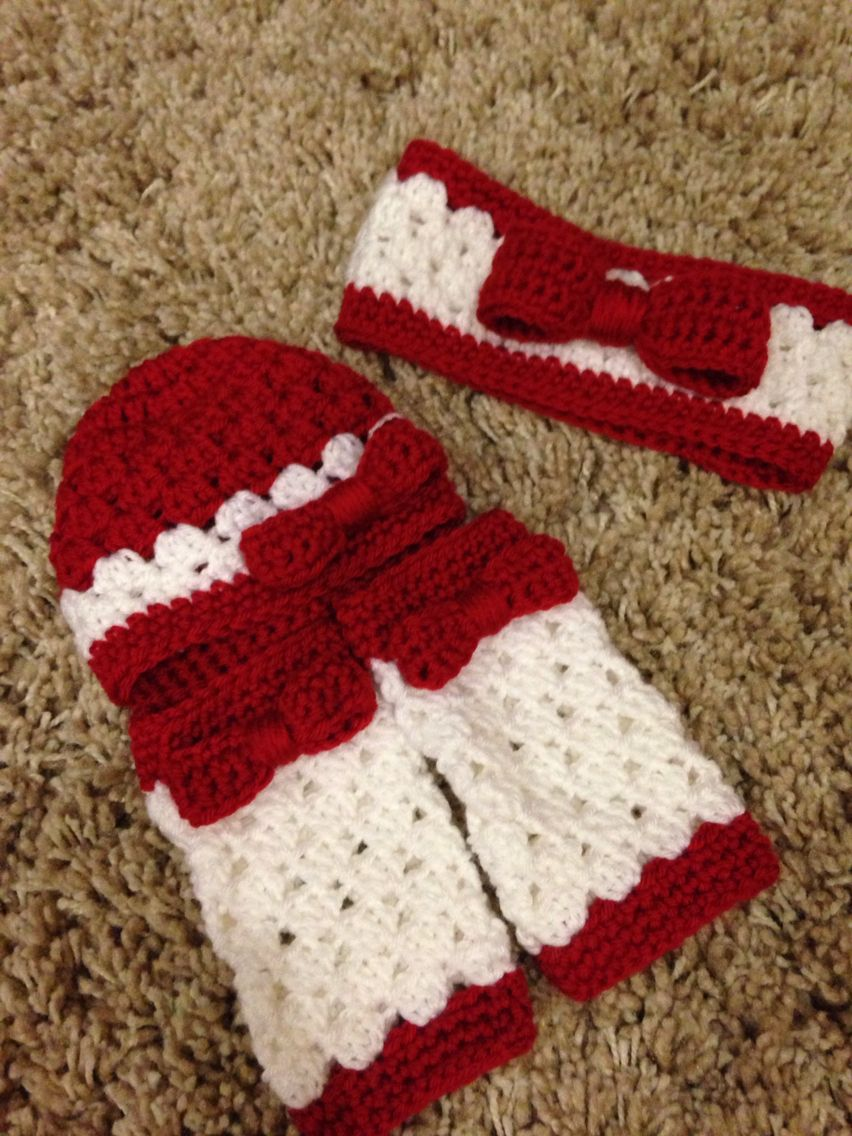 Baby Legwarmers And Hat Shell Pattern Matching Big Sister