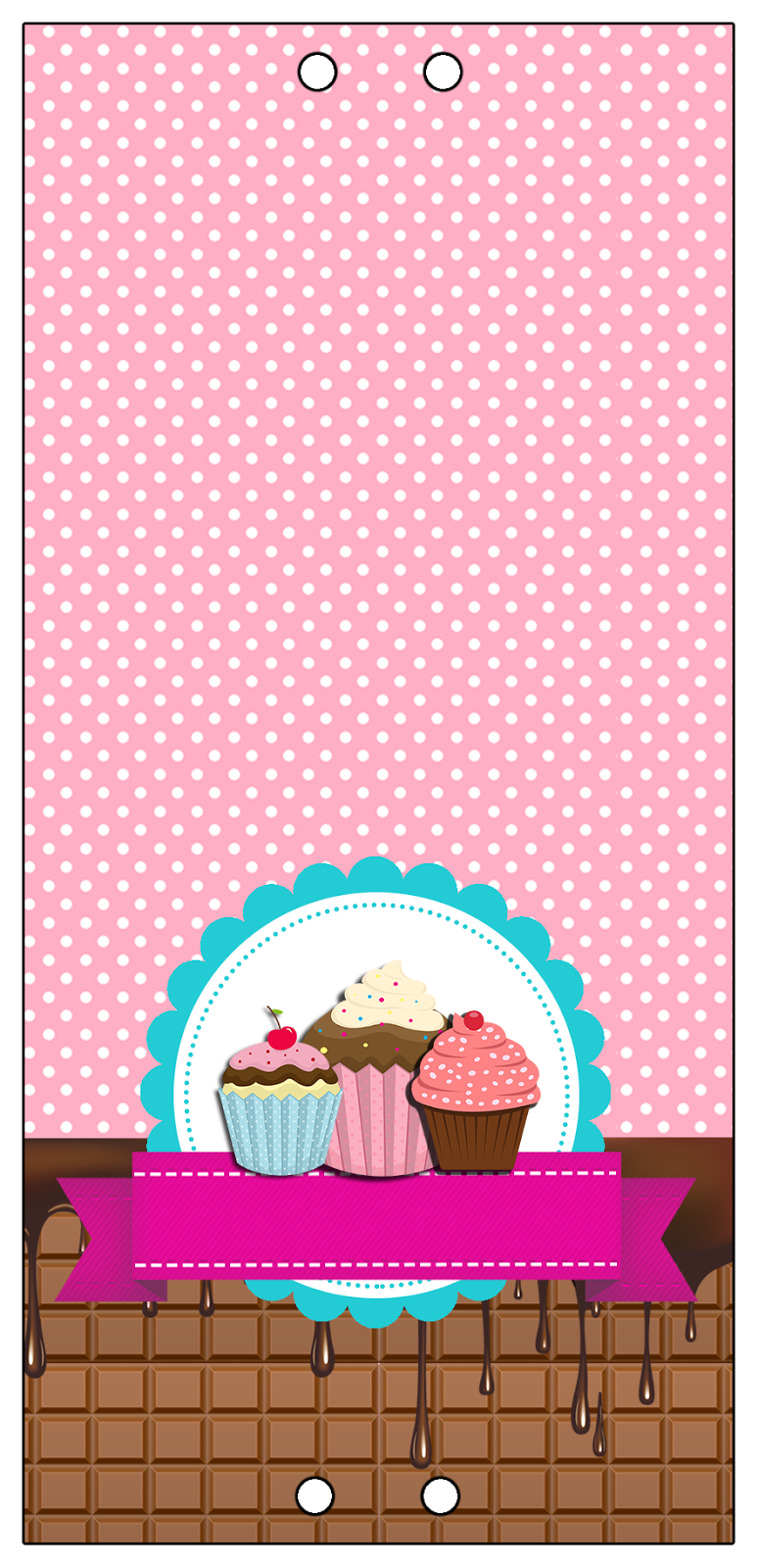 convites digitais simples kit de personalizados tema festa cupcake