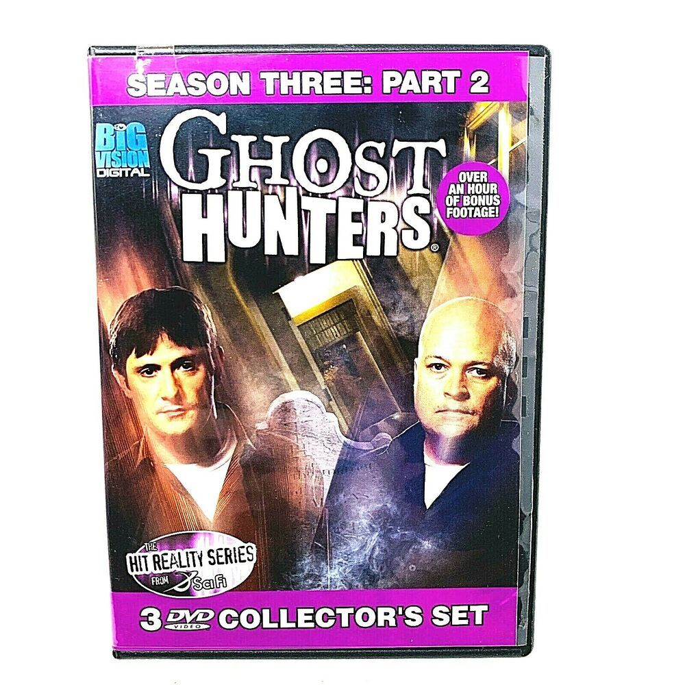 ghost hunters season 3 part 2 dvd 2008 3 disc set collector set in 2019 ghost hunters
