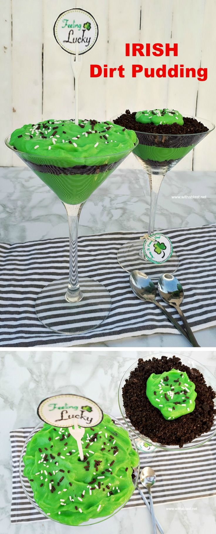 Irish dirt pudding is a quick and easy dessert for st