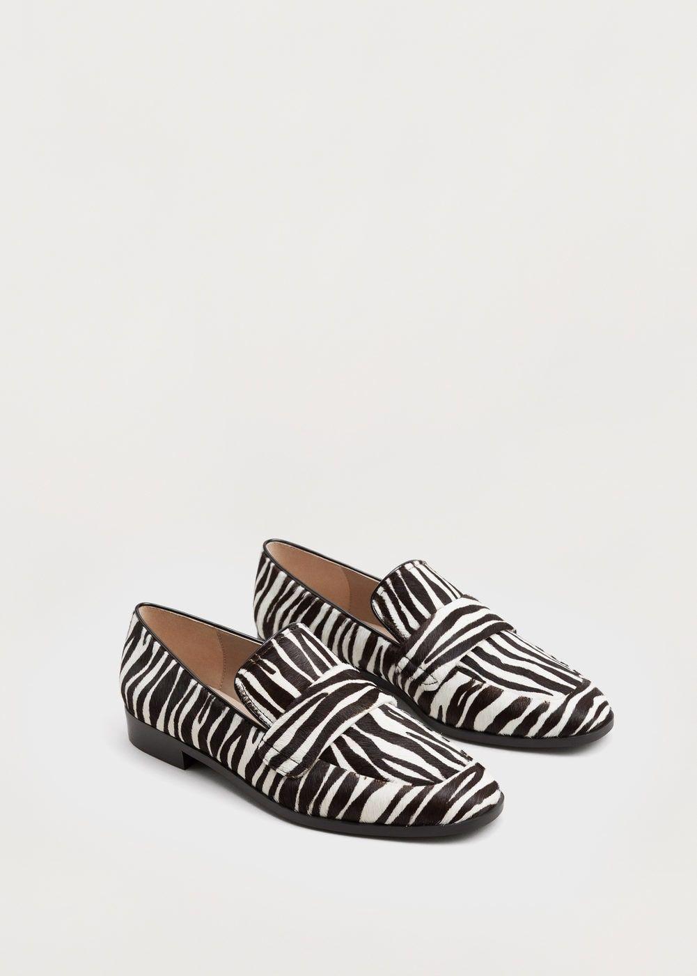 Mocassim pele pelo - Sapatos de Mulher | MANGO Portugal
