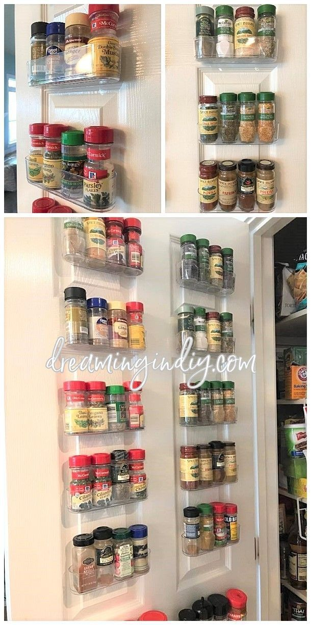 Best Diy Crafts Ideas For Your Home Organize Spices Using Clear Command Caddies A Damage