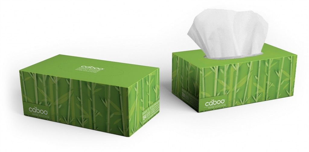 Caboo Flat Box Facial Tissue. Made from renewable sugarcane and ...