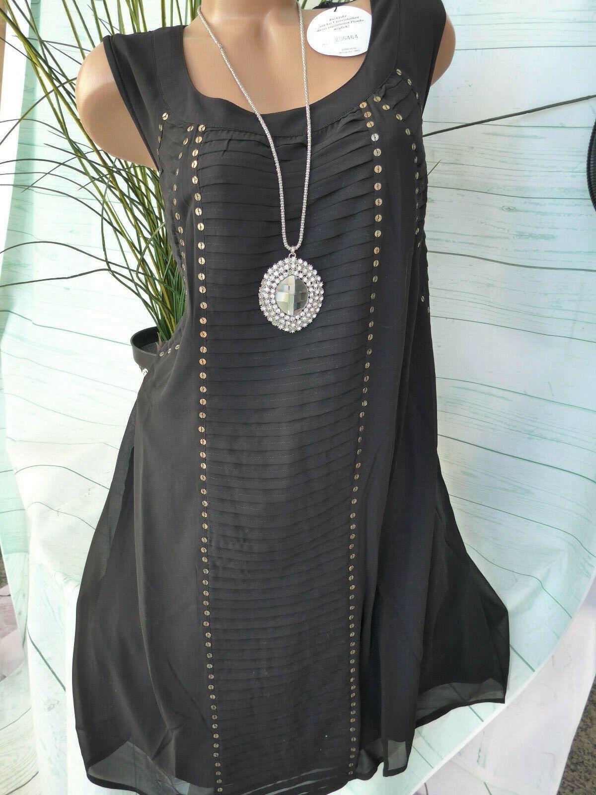 kleider sheego damen kleid eventkleid gr 764 44-48 schwarz