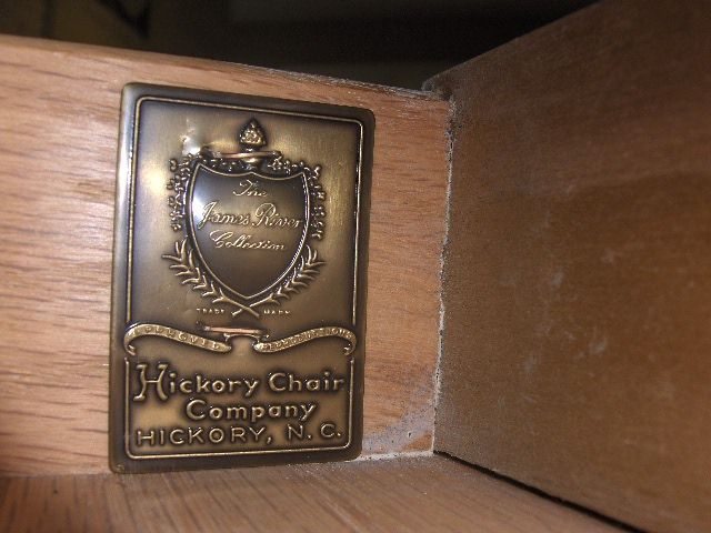 Wow... this James River drawer plate is very old... the collection has been made since 1941 by Hickory Chair.