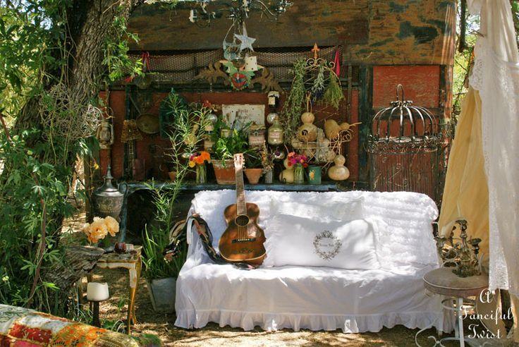 gypsy décor boho gypsy shabby garden outdoor decor ideas