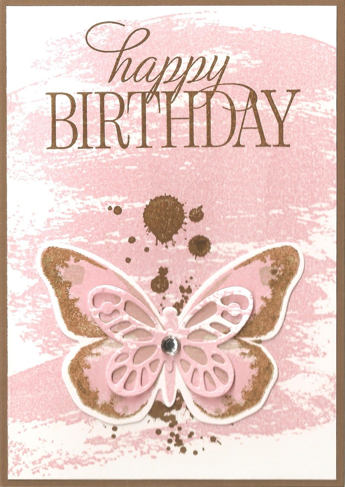SU Watercolor Wings Stamp Set, Watercolor Wash BG Stamp, Happy Birthday, Everyone Stamp Set & Bold Butterfly Framelits