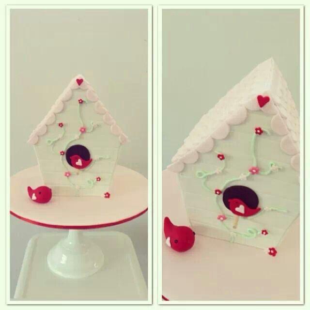 Birdhouse Cake Art