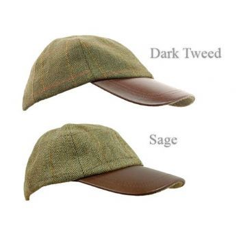 8162ef22e0a Tweed Leather Skip Cap