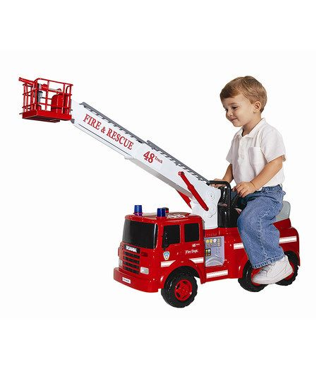 Flat River Action Fire Engine Ride-On | zulily