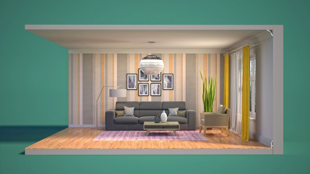 3d Illustration Interior Of The Living Room In A Box Paid Sponsored Affiliate Interior Box Room Illustration Home Home Decor Interior
