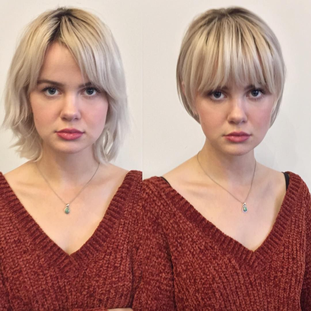 Long To Short Hairstyles Before And After Women Short Haircut Ideas Long To Short Hair Short Hair Styles Hair Makeover