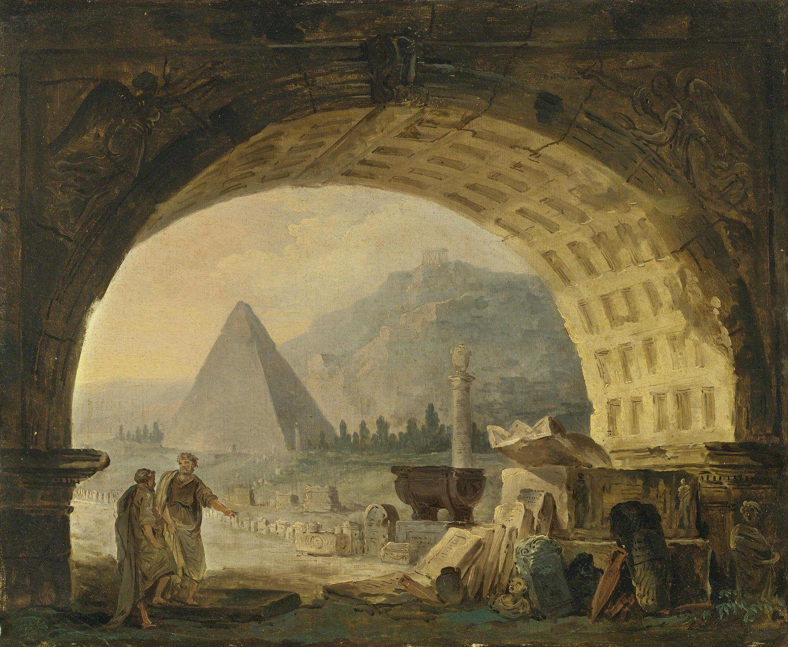 Hubert Robert Visionary Painter In 2021 19th Century Paintings Painter Painting
