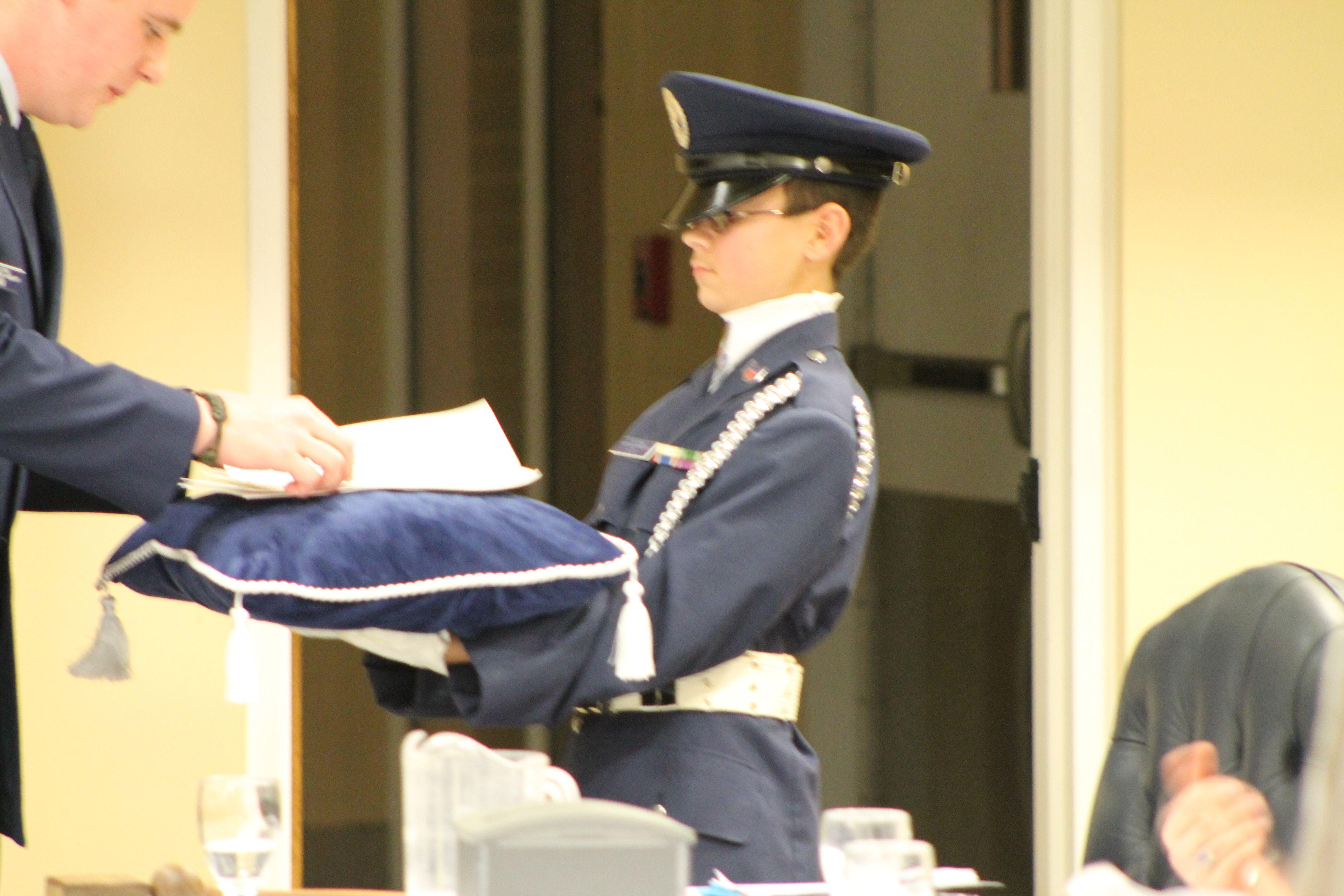 Civil Air Patrol Presentation of award by Honor Guard