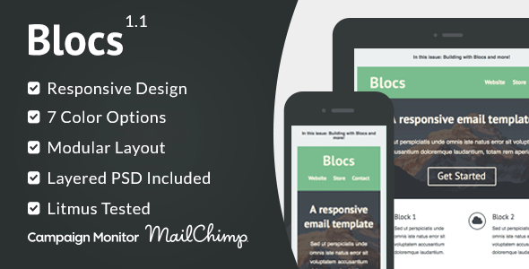 Blocs  Responsive Email Template  Responsive Email Campaign
