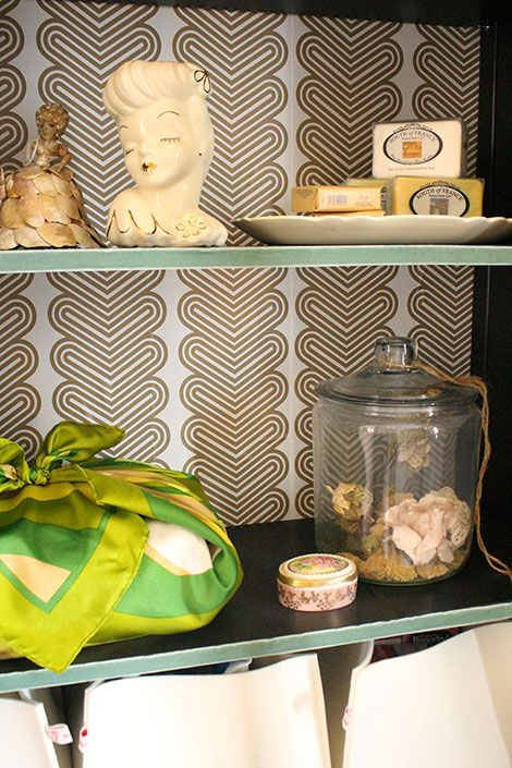 before & after bathroom renovation, Ikea hack, furoshiki fabric wrap, vintage head vase