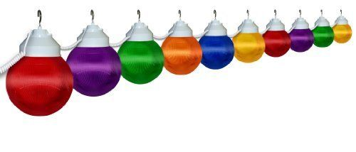 Polymer Products LLC 1661-00515-PRE Multi Color Ten Globe String Light Set by Polymer Products LLC. $124.99. Light up the outdoors with our ten globe, weather resistant string light set used for decoration or functional lighting. Great for decks, patios, porches, awnings, and recreational vehicles. Includes 20-Feet. power cord and hanging hooks for installation.