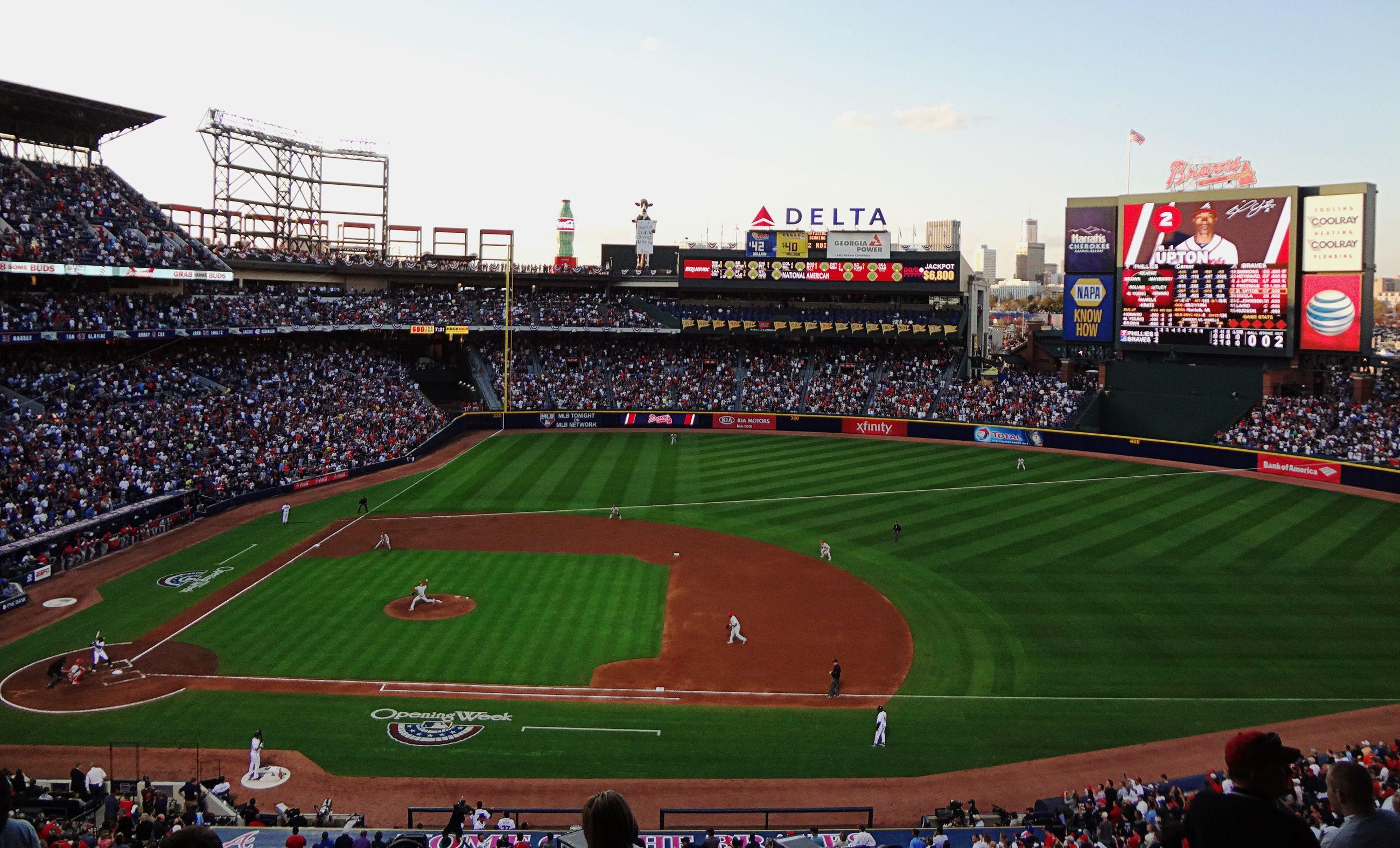 Atlanta Braves Stadium Turner Field Philadelphia Phillies Vs Atlanta Braves 4 1 13 Bottom Atlanta Braves Stadium Atlanta Braves Braves