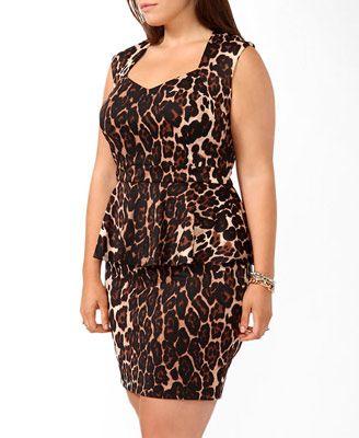 Leopard Peplum Dress | FOREVER 21 - 2030298240