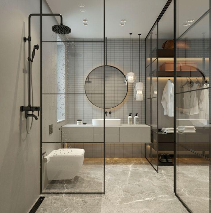 Wanddekoration Fliese Begehbarer Kleiderschrank Glas