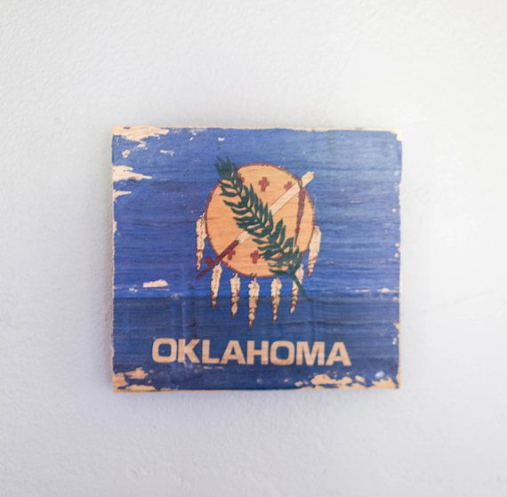 Oklahoma Flag Gel Transfer  Custom pallet gel by RoaryTubbs