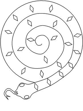 Paper Plate Snake Template To Use With Joe Hayes Book The Gum