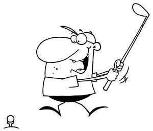 Golf Club and Ball Clip Art | Golf Clipart Image: Gung-Ho Golfer ...