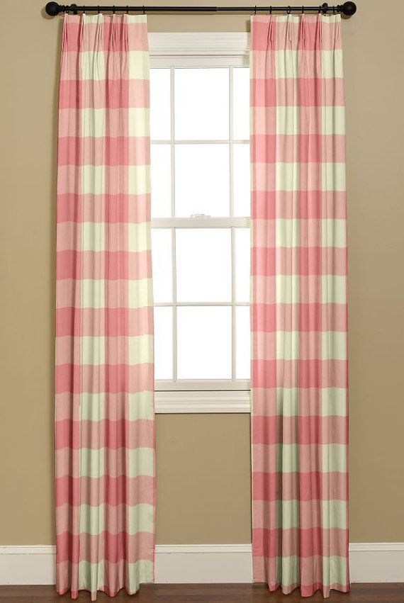 Buffao Check Curtains P Kaufmann Large Check By Bellashomedecor Custom Drapery Panels Custom Made Curtains Custom Drapery