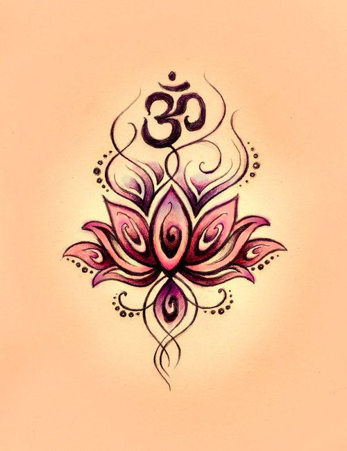Love Drawing Art Black Tattoo Flower Pink Sketch Idea Doodle Buddhism Buddha Lotus Om Namaste Ohm With Images Flower Tattoo Designs Lotus Flower Tattoo Design Tattoos