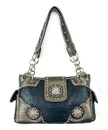 Another great find on #zulily! Turquoise Embossed Shoulder Bag #zulilyfinds