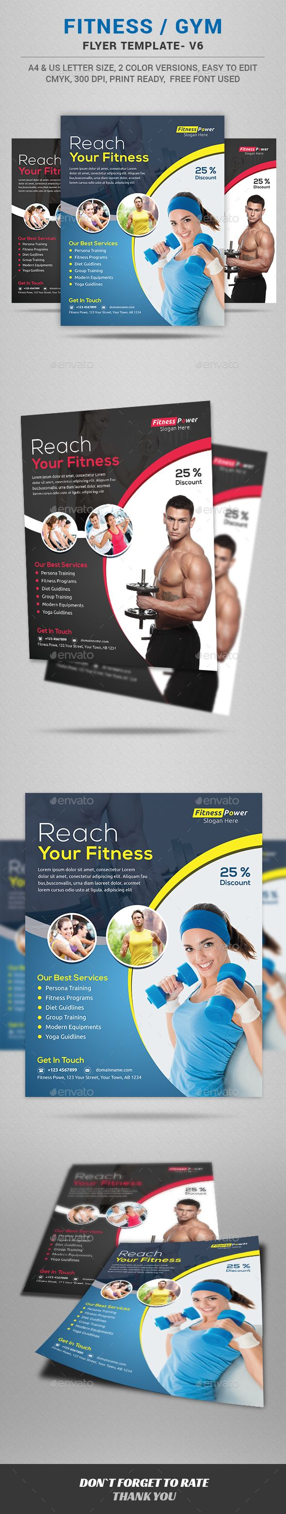 Fitness Flyer  Flyer Template Print Templates And Flyer Printing