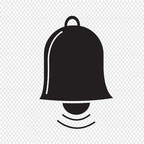 bell icon symbol sign Free vector illustration, Clock