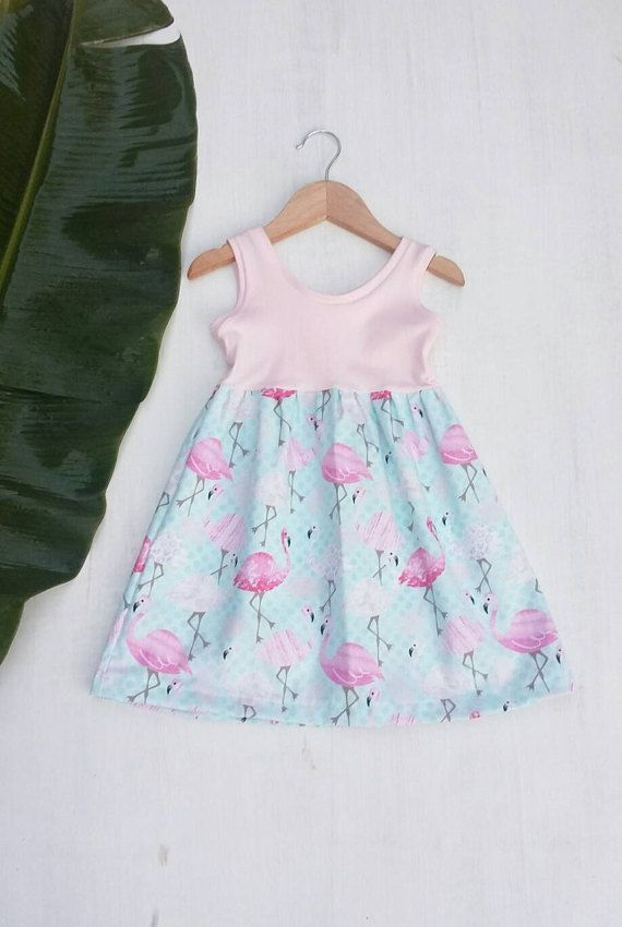 11e3b64e7 Sweet pink flamingo dress available in sizes 12 months up to girls 7/8.  Made in hawaii designer childrens clothing. Big Island Kidz Boutique  etsy.com/shop/ ...