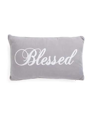 Best 12X20 Blessed Pillow With Images Pillows Throw 400 x 300