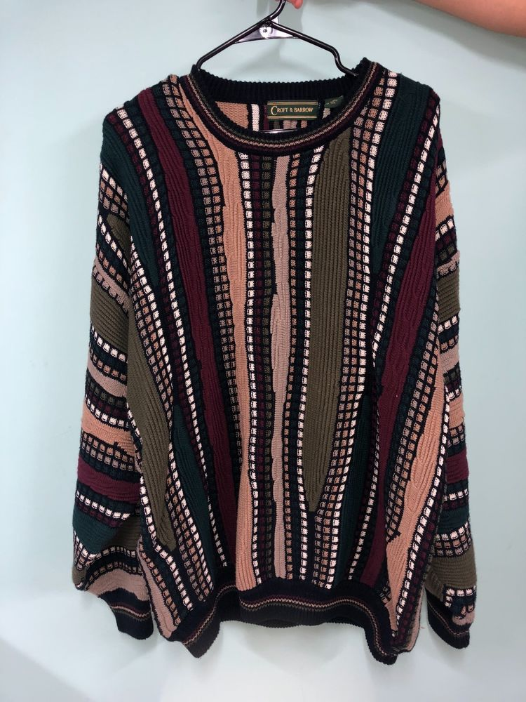 Croft Barrow Vintage Coogi Sweater Mens Xl Fashion Clothing Shoes Accessories