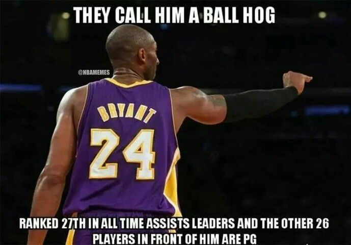 But He Don T Pass Smh With Images Kobe Bryant Kobe Bryant