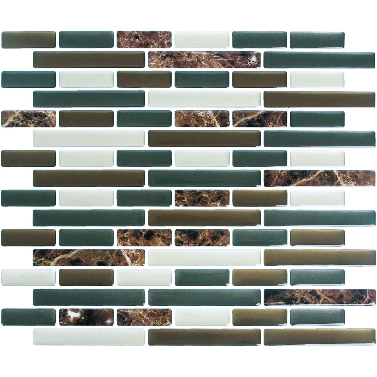 - Peel And Impress Adhesive Wall Title In Mixed Brown Marble (24088