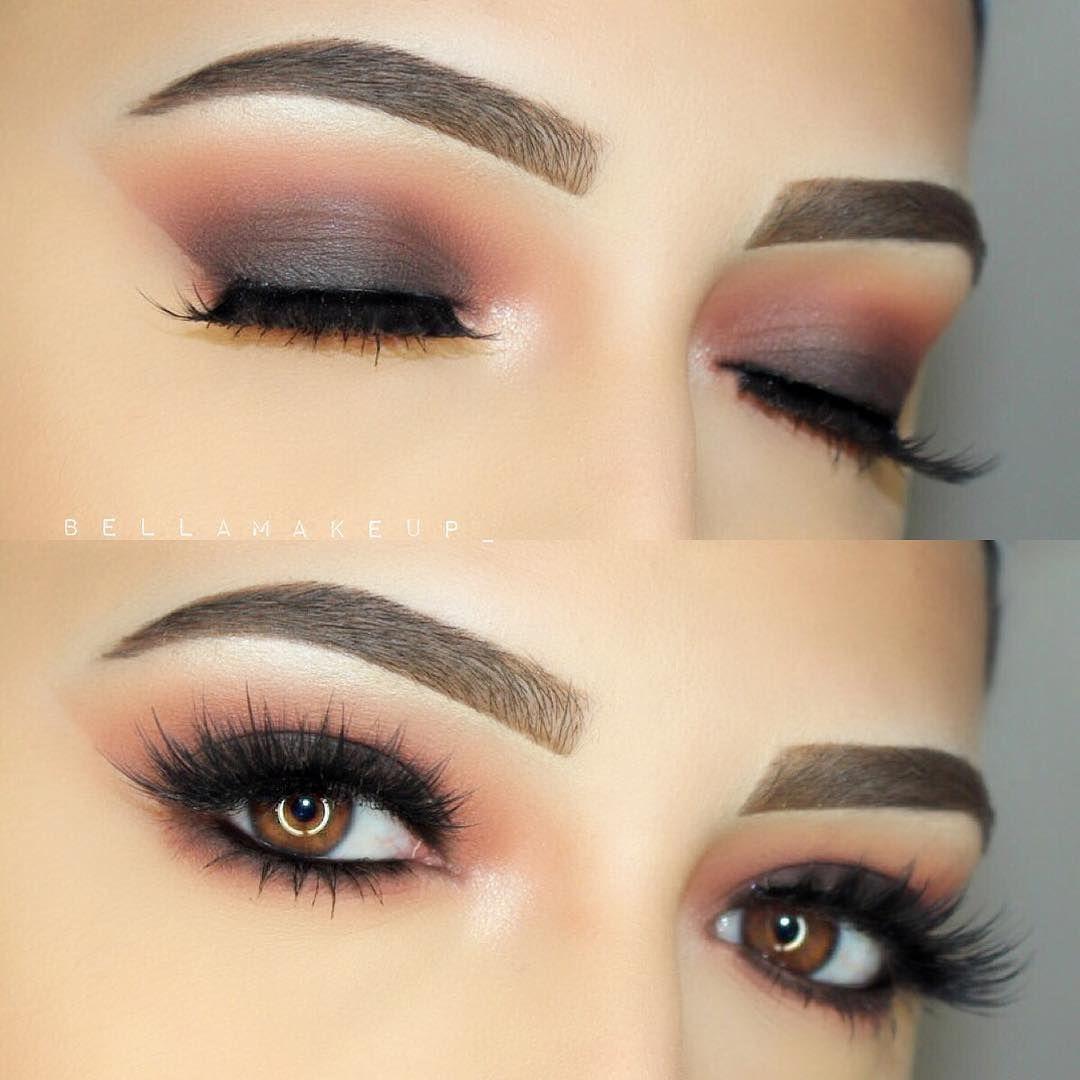 charcoal grey smokey eye, warm crease, cat eye, no liner