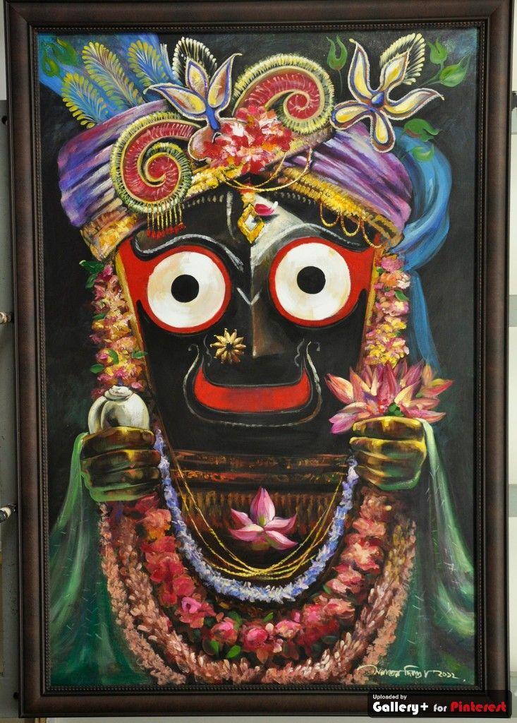 Jaganath Sanatan Dinda Oil On Canvas Artworks Lord