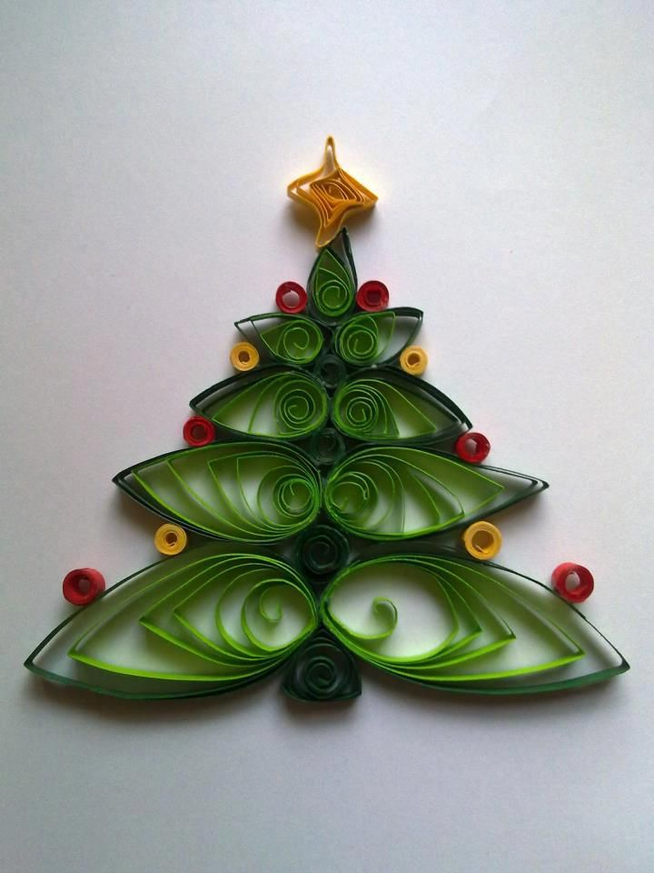 Quilling christmas tree papet decor pinterest for Decoration quilling