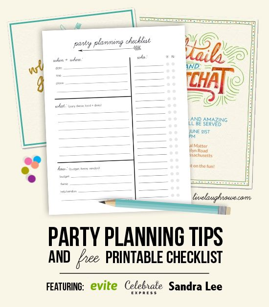 Party Planning Tips and Printable Checklist with livelaughrowe