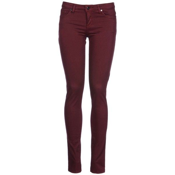 8 Casual Pants ($59) ❤ liked on Polyvore featuring pants, jeans, bottoms, calças, trousers, maroon, 5 pocket pants, maroon pants, cotton trousers and cotton pants