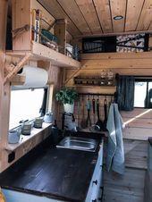 Photo of Camper Küche Ausbau mit Holz, Fenster und Wandregalen #Der #Köln #mieten #Olaf…