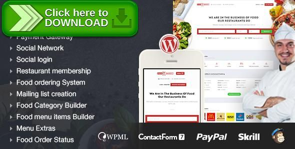 Free nulled FoodBakery   Themeforest   Restaurant themes