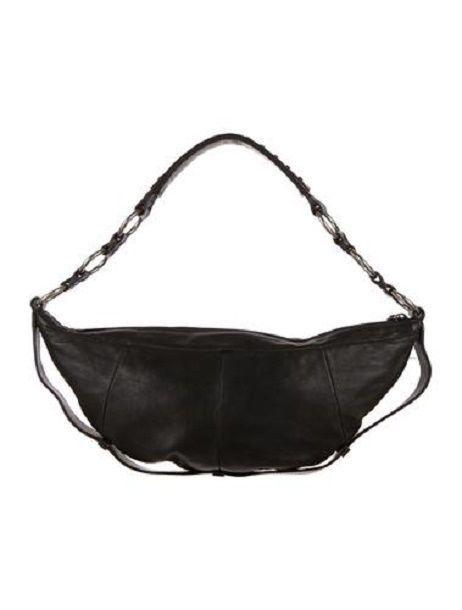 025c8fdd08e6 YSL MOMBASA SLING BAG Yves Saint Laurent 2002 Black Leather Shoulder Handbag   YSLYvesSaintLaurent  ShoulderBag
