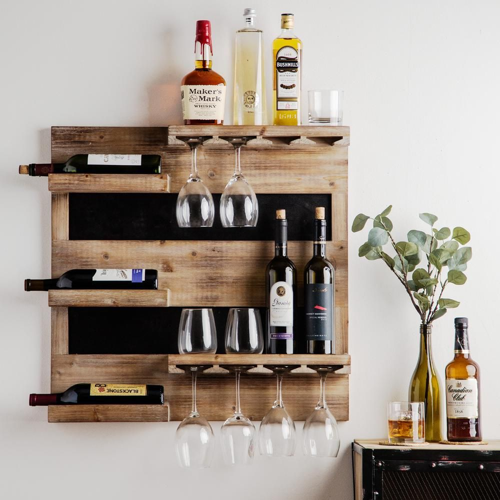 Home Essentials Beyond 27 In L Reclaimed Wood Wall Bar 65926 The Home Depot Mueble Bar De Licor Bares Rusticos De Madera Decoracion De Bar De Casa