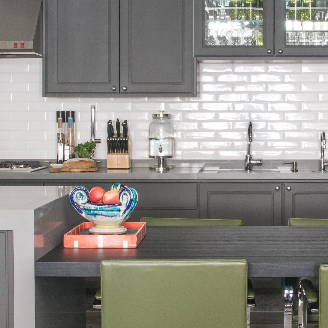 Cozinha destaque para a combina o do azulejo branco - Azulejo tipo metro ...