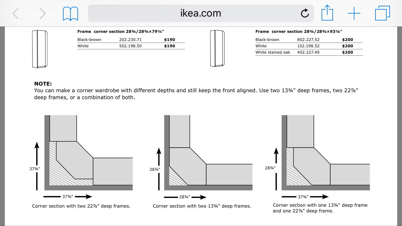 ikea pax corner unit measurements bedroom pinterest ikea pax corner unit and corner. Black Bedroom Furniture Sets. Home Design Ideas