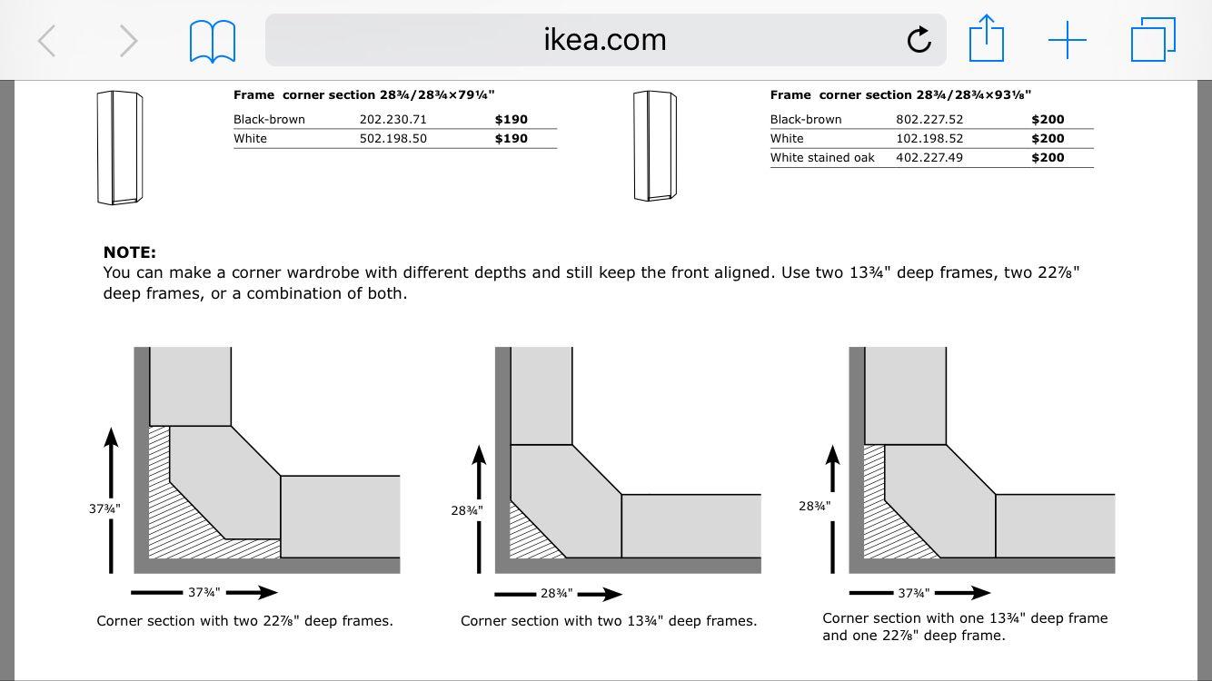Ikea Pax Corner Unit Measurements Wandel Kast Hoek Kast Pax Kast